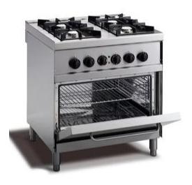 cucina 4 fuochi gas su forno elettrico con fiamma pilota mod m74fpfe